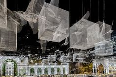 Wire Mesh Installation Features Architectural Fragments Constructed At 1:1,© Roberto Conte
