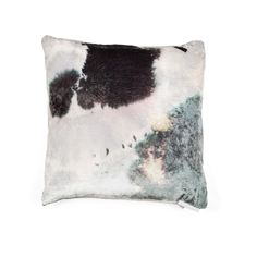 Amorphously colored with tones of gray, purple, and green, this velvet pillow evokes the fluidity of water. Inspired by a delicate Japanese…