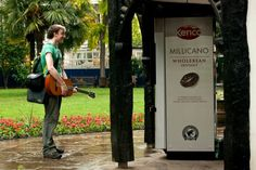 Talking Vending Machine Tells Users What To Do To Get Free Coffee    A caffeinated drinks dispenser shouts out commands to people passing by, exchanging compliance for a gratis beverage.