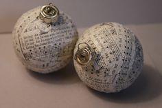 Musical Christmas Balls upcycled onaments by CreativeObsessionn Diy Xmas Ornaments, Music Ornaments, Silver Christmas Decorations, Christmas Tree Themes, Christmas Balls, Christmas Projects, Holiday Crafts, Ball Ornaments, Christmas Gift For You