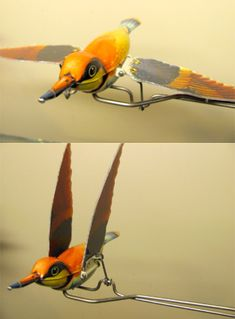 German-made antique flapping bird tin toy Bird Puppet, Marionette Puppet, Kinetic Toys, Kinetic Art, Flapping Bird, Wind Sculptures, Mechanical Art, Puppet Making, 3d Prints