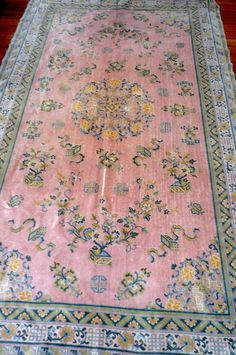 Antique Pink Chinese Silk Rug  So perfect for my bedroom!