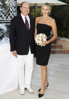 Princess Charlene and Prince Albert of Monaco ////The Classic Woman and the Little Black Dress