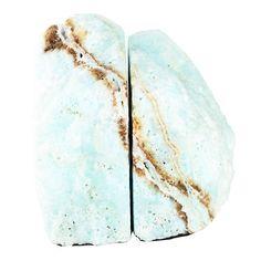 Light Blue Aragonite Bookends, Set of 2 | Kirklands