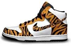 Tigger-Inspired High Tops #Tiger #Nike #Christmas