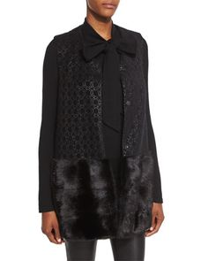 Vest+&+Sweater+by+Co+at+Bergdorf+Goodman.