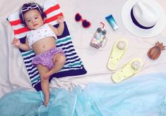 Baby Beach Pictures, 3 Month Old Baby Pictures, 6 Month Baby Picture Ideas, Monthly Baby Photos, Baby Girl Photos, Newborn Pictures, Baby Girl Photography, Designer Baby Clothes, Foto Baby