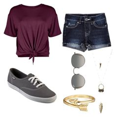 """""""untitled #13"""" by daniella0522 on Polyvore featuring Boohoo, Keds, Charlotte Russe, Bling Jewelry and Ray-Ban"""