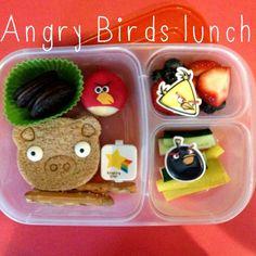 Angry Birds bento camp lunch #schoollunch #angrybirds