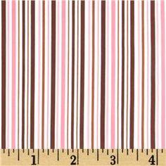 Pimatex Basics Stripe Chocolate/Pink