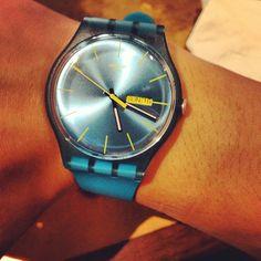 #Blue #Swatch #watch