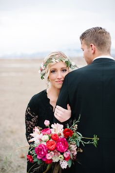 Bold Colour Inspiration by Hillary Muelleck  // Beautiful Elope Small Intimate Wedding Ideas and Inspiration