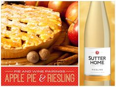 Only two days left until apple pie! Even better if it has a glass of Sutter Home Riesling with it!