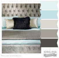 Pretty Aqua, teal, greyish brown color scheme - love this colour scheme