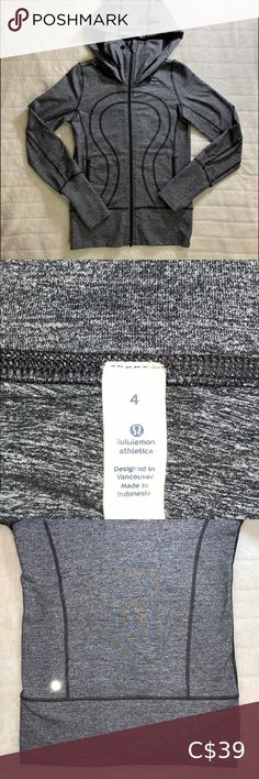 Lululemon Long Body High Neck Running Hoody SZ 4 Lululemon Hoody with a longer body and higher neck for those chilly running days. Two tone Grey and Black. Running Day, Plus Fashion, Fashion Tips, Fashion Trends, Hoody, Lululemon Athletica, Gray Color, Jackets For Women, Men Sweater