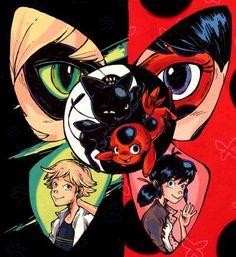 Marinette/Ladybug & Adrian/Chat Noir