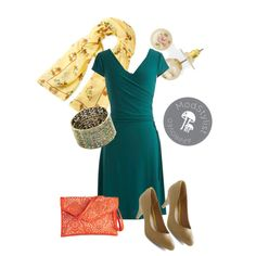 Style a flattering wrap dress for work by adding classic heels and colorful accessories!