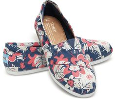 Black and White Tropical Print Women's Classics | TOMS