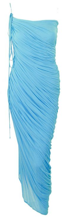 Not quite sapphire  - but a beautiful blue - and it's Halston!  1970s  #blue #vintage couture