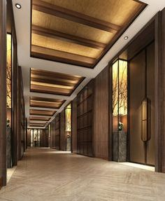 hotel corridor 49 Beautiful Corridor Lighting Design For Perfect Hotel Hotel Hallway, Hotel Corridor, Hotel Bedroom Design, Design Hotel, Lobby Interior, Interior Architecture, Corredor Do Hotel, Hotel Ceiling, Office Ceiling