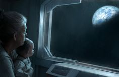 One day in the not too distant future...Grandmother and grandchild seeing home after a weekend away
