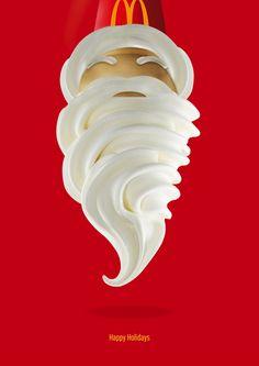 25 Clever and Funny Christmas Print Ads Design Shack Clever Advertising, Advertising Poster, Advertising Campaign, Advertising Design, Advertisement Examples, Food Design, Café Design, Design Room, Stand Design