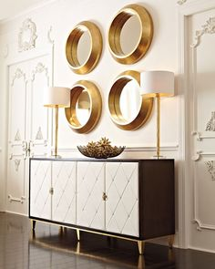 Shop Jet Set Buffet from Bernhardt at Horchow, where you'll find new lower shipping on hundreds of home furnishings and gifts. Design Salon, Home Design, Decor Interior Design, Interior Decorating, Smart Design, Design Ideas, Design Inspiration, Mirror Inspiration, Lobby Design