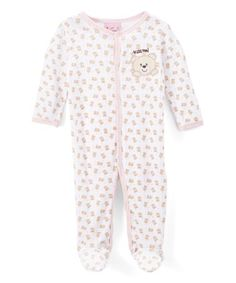 Love this Pink Bear 'Kiss Me' Footie - Infant on #zulily! #zulilyfinds