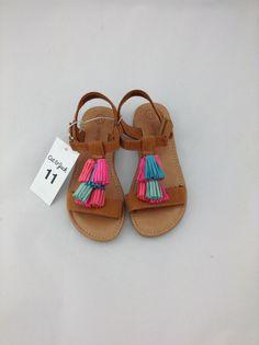 8cfb12c7af06f Cat   Jack Girl s Sandals - Pink Blue Green - Tassels - Size 11 - NWT