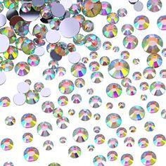 Outus Flatback Rhinestones Round Crystal Flat Back Gems, 4 Mix Sizes, 800 Pieces Car Fix, Unicorn Costume, Sewing Stores, Crystal Rhinestone, Jewelry Watches, Crystals, Rhinestones, Flat, Art Clothing