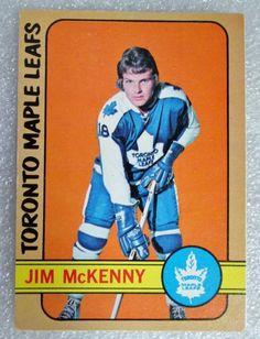 1972-73 OPC JIM McKENNY HOCKEY CARD! From my 45+ year collectiion SB NM-MINT. #OPC #TorontoMapleLeafs