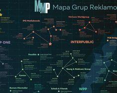 Fragment Mapy Grup reklamowych dla Media&Marketing Polska