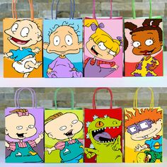 cartoon baby shower theme Decorate your Rugrats Party with these cute Favor Bags. Simply Print, Cut and Assemble. *Baby Shower Package is also available just email us if your interested 1st Birthday Party Themes, Baby Boy 1st Birthday, Birthday Ideas, 22nd Birthday, Baby Shower Parties, Baby Shower Themes, Shower Party, Shower Favors, Shower Invitations