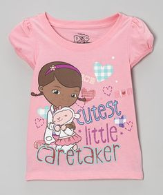 Doc McStuffins knows how to heal dolls, dinosaurs and teddy bears. But she can also cure the common outfit with this bright and cheery tee. With its colorful graphics and cozy cotton construction, it'll have any girl feeling better as soon as it's put on.
