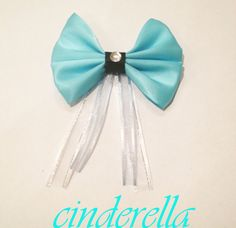 Cinderella Disney Inspired Bow by bulldogsenior08 on Etsy, $8.00