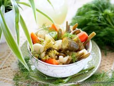 kiszonka_letnia_wielowarzywna Japchae, Preserves, Ethnic Recipes, Food, Diet, Preserve, Essen, Preserving Food, Meals