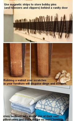 Don't like the bobby pin idea- I see a disaster!  (I'm going to try the tic tac conatiner.) But some of the others are great!