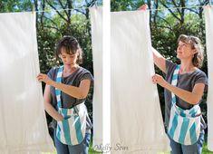 Sew a Clothespin Peg Bag - Great way to keep clothespins close at hand - Melly Sews