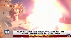 The Russian military has confirmed its navy blasted ISIS strongholds in Syria on Wednesday, launching offensive airstrikes from the Mediterranean Sea against the Islamic State, reports theNY Post.    According to the Russian defense ministry, at least four cruise missiles were fired from two warships against ISIS complexes in the Syrian city of Palmyra, though the official