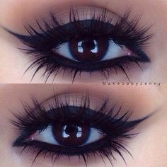 Whoever this is looks really pretty with this eye make up!❤