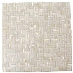 Splashback Tile Mother of Pearl Serene White 12 in. x 12 in. x 2 mm 3D Seamless Pearl Shell Glass Mosaic Tile-MOP3DWHTSEAMLESPEARL - The Home Depot