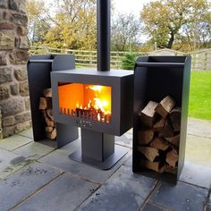 Fiesta Garden Stove and Chimnea – (Garden Wood Burner), – Freestanding fireplace wood burning