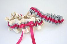 Gray and Hot Pink Wedding Garter Set by The Garter Girl by Julianne Smith Pink Wedding Garter, Wedding Garters, Hot Pink Weddings, Gray Weddings, Wedding Styles, Wedding Ideas, Cream Wedding, Headband Styles, Garter Set