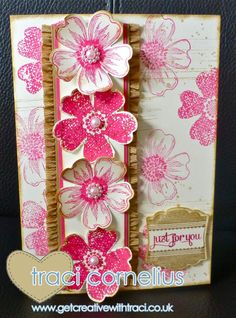 Flower Shop Card by Independent Stampin Up Demonstrator Traci Cornelius  www.getcreativewithtraci.co.uk