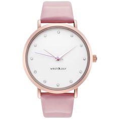 AmazonSmile: WRISTOLOGY Olivia Womens Crystal Rose Gold Boyfriend Watch Pink Patent Leather Strap: WRISTOLOGY: Watches