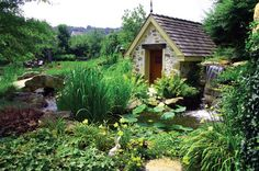 Traditional Landscape Design, Pictures, Remodel, Decor and Ideas - page 78 Backyard Stream, Big Backyard, Pool Shed, Shed Design, Traditional Landscape, Farm Life, Water Features, Garden Landscaping, Landscape Design