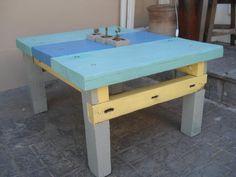 Mesa raton con maderas 100% recicladas by WOODHEAD  www.facebook.com/...