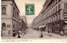 La rue Doudeauville prise de la rue Marx Dormoy Marx, Rue, Images, Street View, Antique Post Cards, Antique Pictures, Time Travel, Old Paris