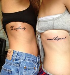 T love this tattoo with my cousin. Tattoos For Women Small, Small Tattoos, Cool Tattoos, Best Friend Tattoos, Sister Tattoos, Under Bra Tattoo, Piercing Tattoo, Piercings, Body Art Tattoos