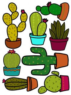 A Customer's Guide To Herbal Dietary Supplements On The Net Cactus Printables. Deco Cactus, Cactus Decor, Cactus Cactus, Cactus Flower, Painted Flower Pots, Painted Pots, Cactus Craft, Diy And Crafts, Arts And Crafts